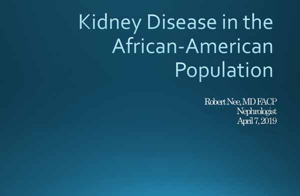 Kidney Disease in the African-American Population