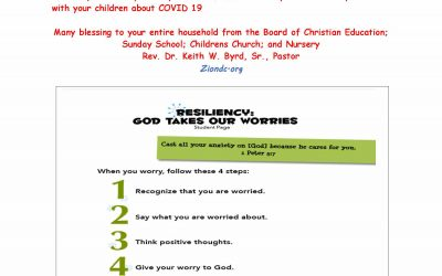 KIDS KALL – God Takes Our Worries: A Discussion on COVID 19