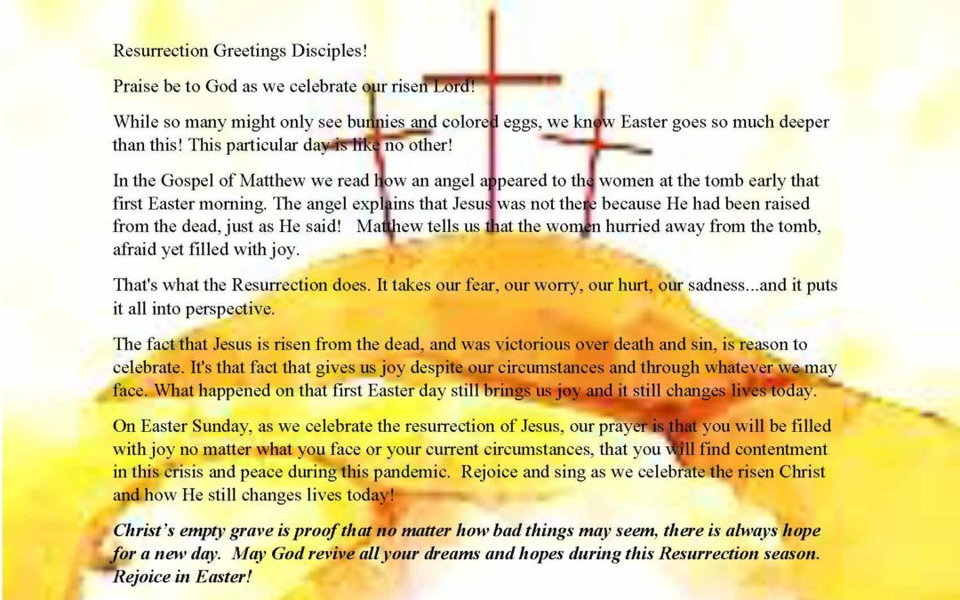 Easter Greeting from the Deacons