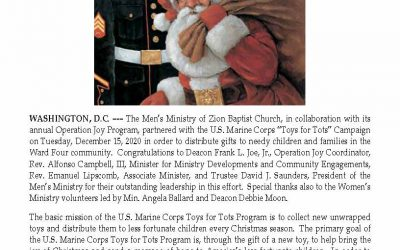 Zion Partners With Toys for Tots